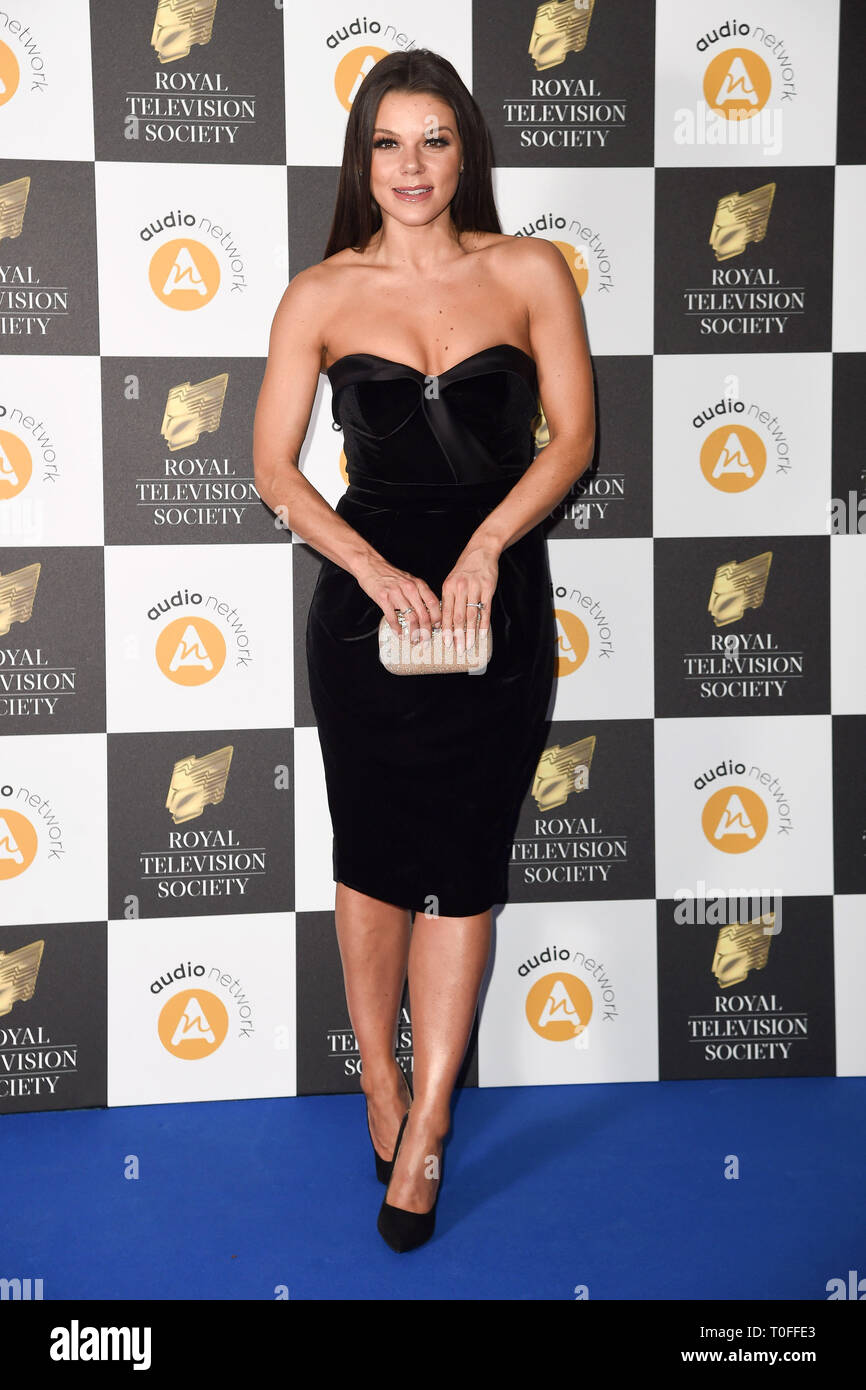 LONDON, UK. March 19, 2019: Faye Brookes arriving for the Royal Television Society Awards 2019 at the Grosvenor House Hotel, London. Picture: Steve Vas/Featureflash Credit: Paul Smith/Alamy Live News Stock Photo