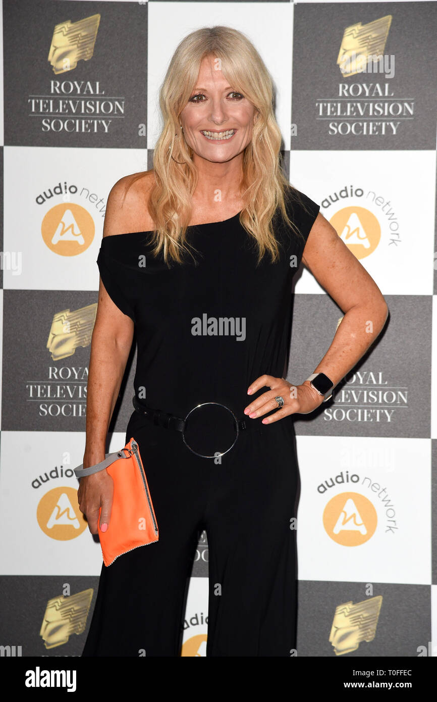 LONDON, UK. March 19, 2019: Gaby Roslin arriving for the Royal Television Society Awards 2019 at the Grosvenor House Hotel, London. Picture: Steve Vas/Featureflash Credit: Paul Smith/Alamy Live News Stock Photo