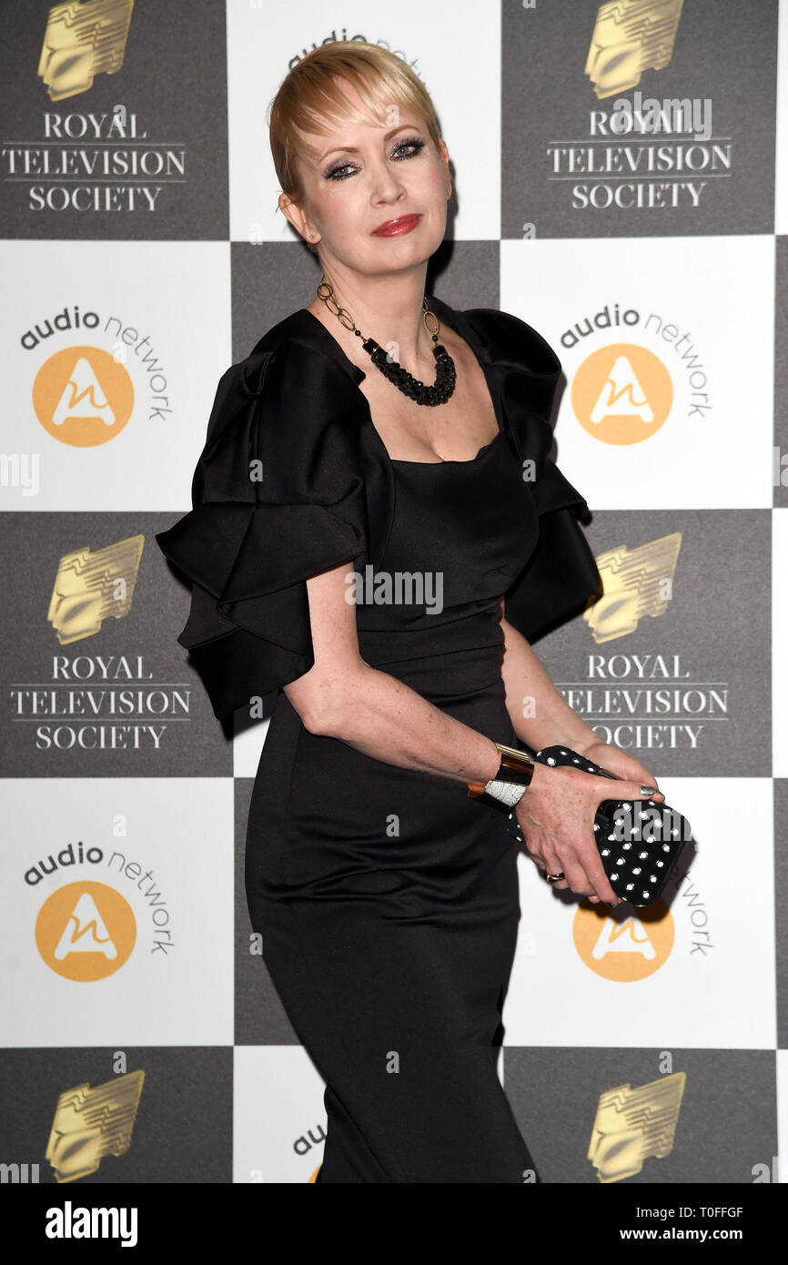 LONDON, UK. March 19, 2019: Lysette Anthony arriving for the Royal Television Society Awards 2019 at the Grosvenor House Hotel, London. Picture: Steve Vas/Featureflash Credit: Paul Smith/Alamy Live News Stock Photo