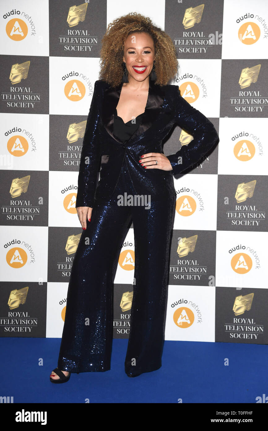 LONDON, UK. March 19, 2019: Ria Hebden arriving for the Royal Television Society Awards 2019 at the Grosvenor House Hotel, London. Picture: Steve Vas/Featureflash Credit: Paul Smith/Alamy Live News Stock Photo
