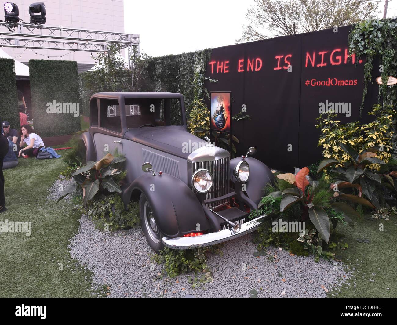 March 10, 2019 - View of Amazon Prime Video's 'Good Omens Garden of Earthly Delights' activation, Day 3, at the SXSW trade show during the 2019 SXSW Conference and Festivals in Austin, Texas. Credit: Billy Bennight/ZUMA Wire/Alamy Live News - Stock Image