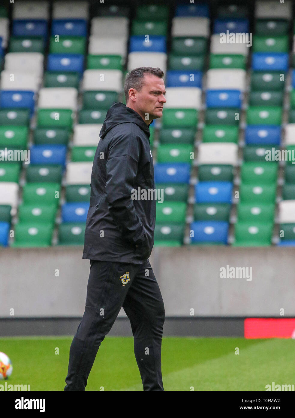 406b6ff43e1 Windsor Park, Belfast, Northern Ireland.20 March 2019.Northern Ireland  training in