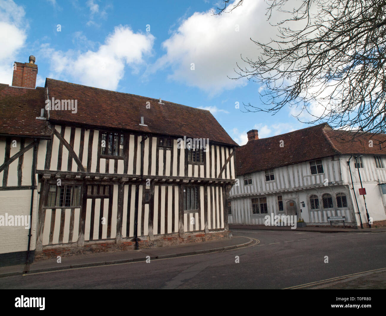 The medieval wool town of Lavenham in Suffolk - Stock Image