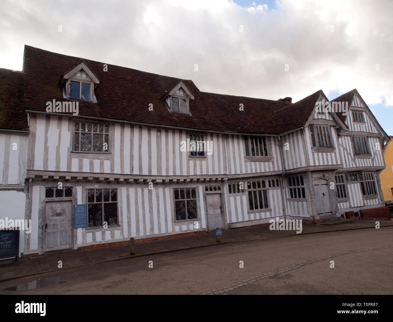 The Guildhall of Corpus Christi in the medieval wool town of Lavenham in Suffolk - Stock Image
