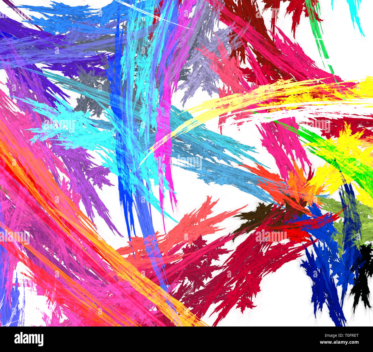 Paint Splash Colors Close Up Chaos Streaks Abstract