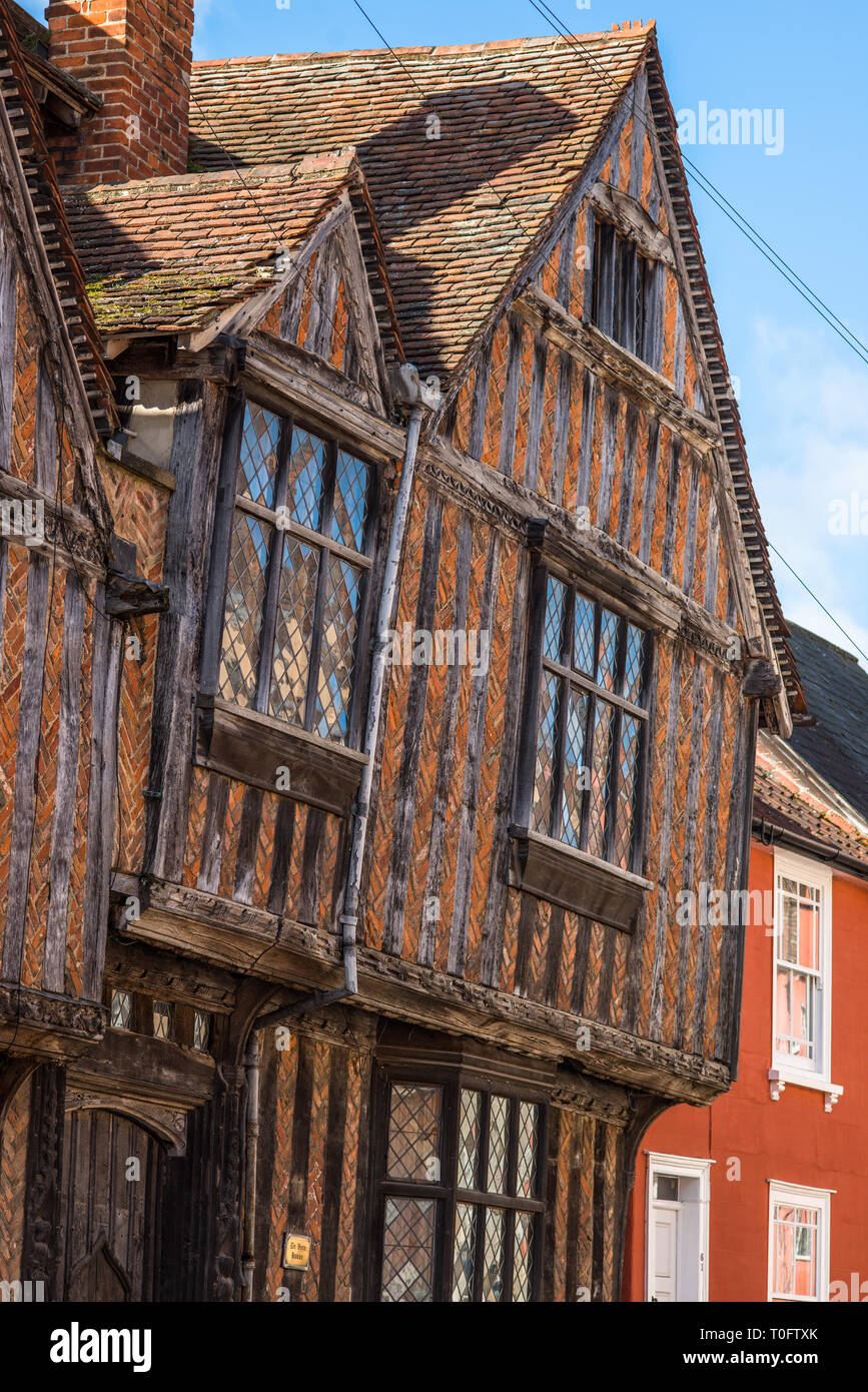 De Vere House in Lavenham, Suffolk, featured in Harry Potter and the Deathly Hallows, Suffolk, England, UK. - Stock Image