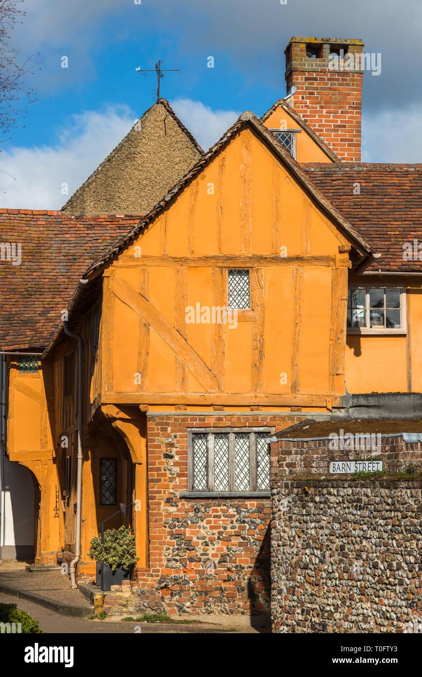 The Little Hall on the Market Square Lavenham Suffolk England UK Stock Photo