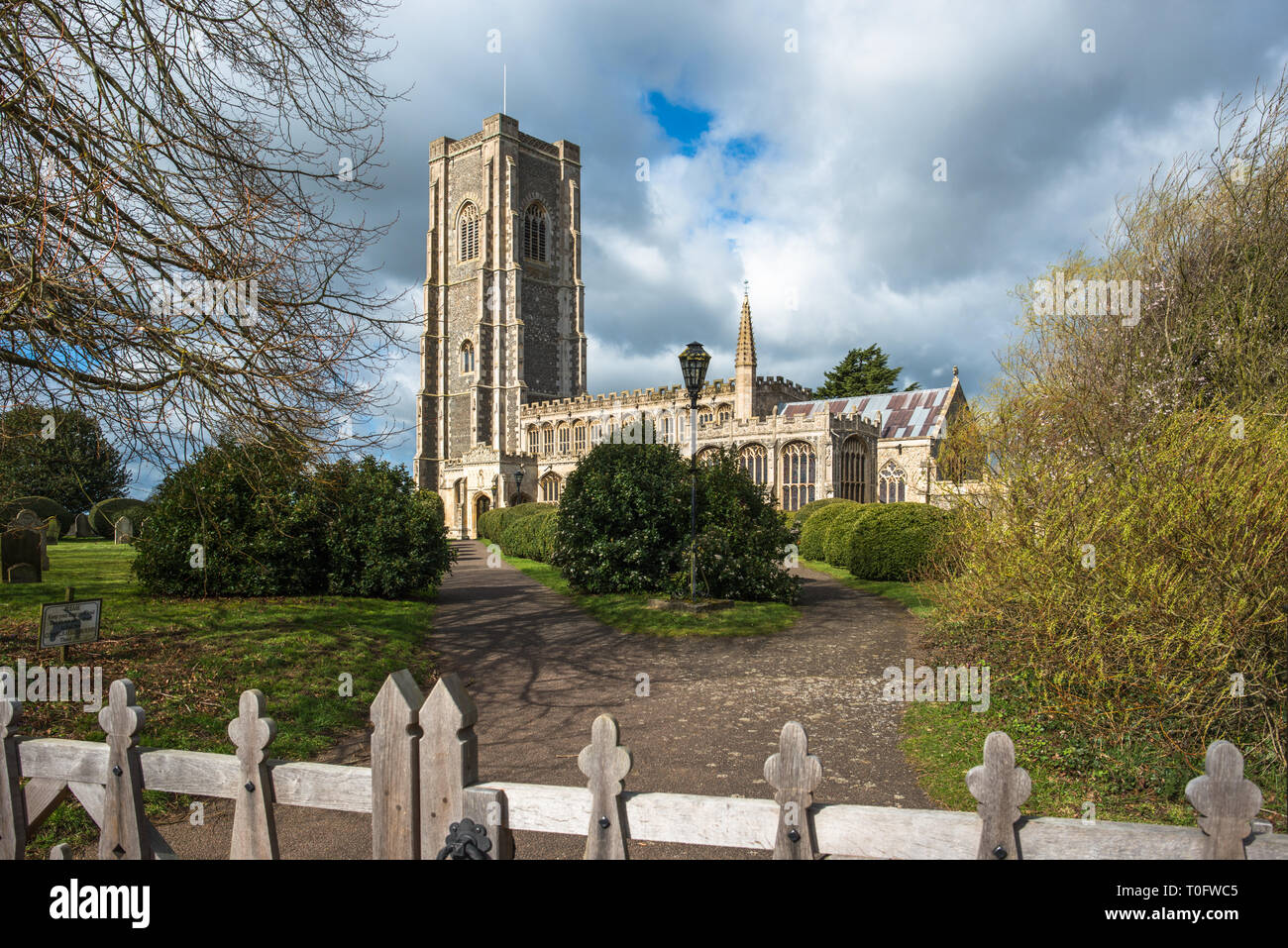 St Peter and St Paul's Parish Church, Lavenham village, Suffolk, England, UK. - Stock Image
