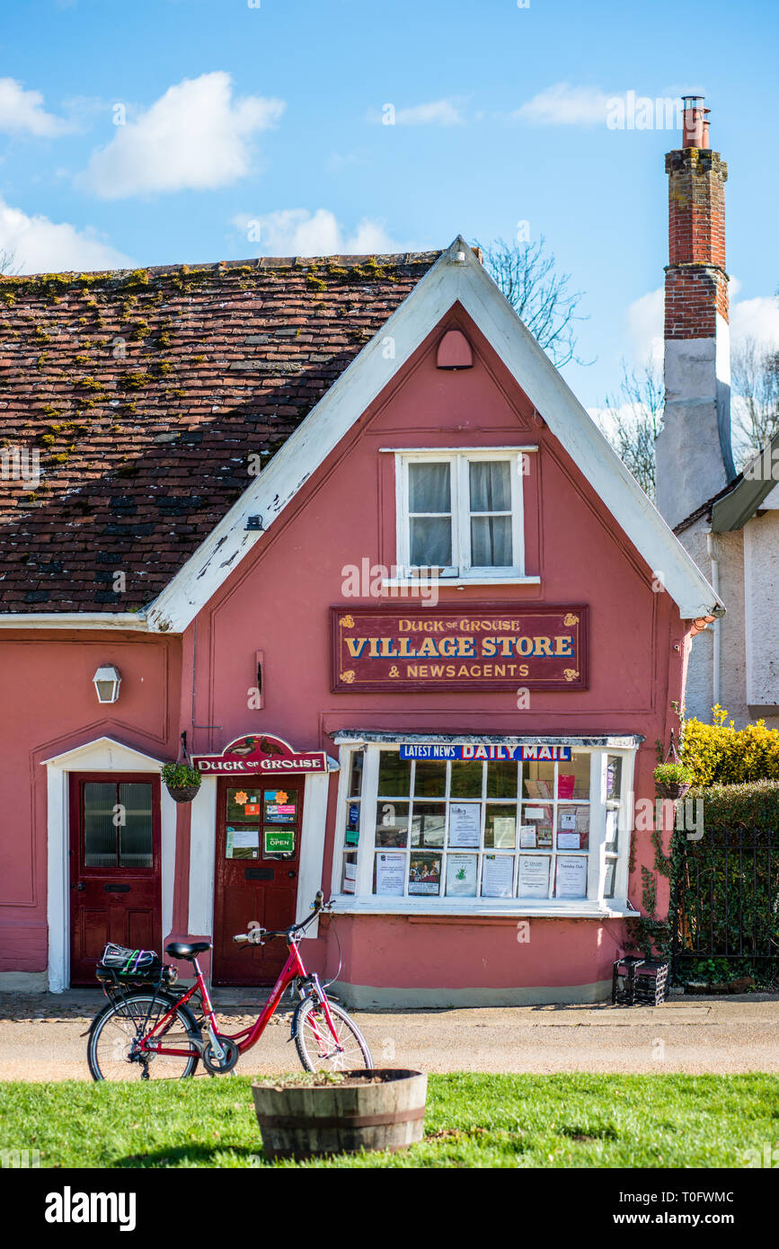 Village store at Cavendish, Suffolk, East Anglia, UK. - Stock Image