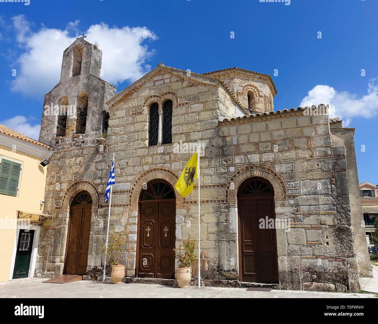 The Church of Saint Jason and Sosipater, oldest church in Corfu, Greece - Stock Image