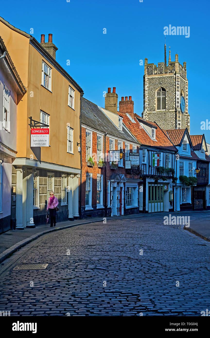 City centre street scene in Norwich Stock Photo