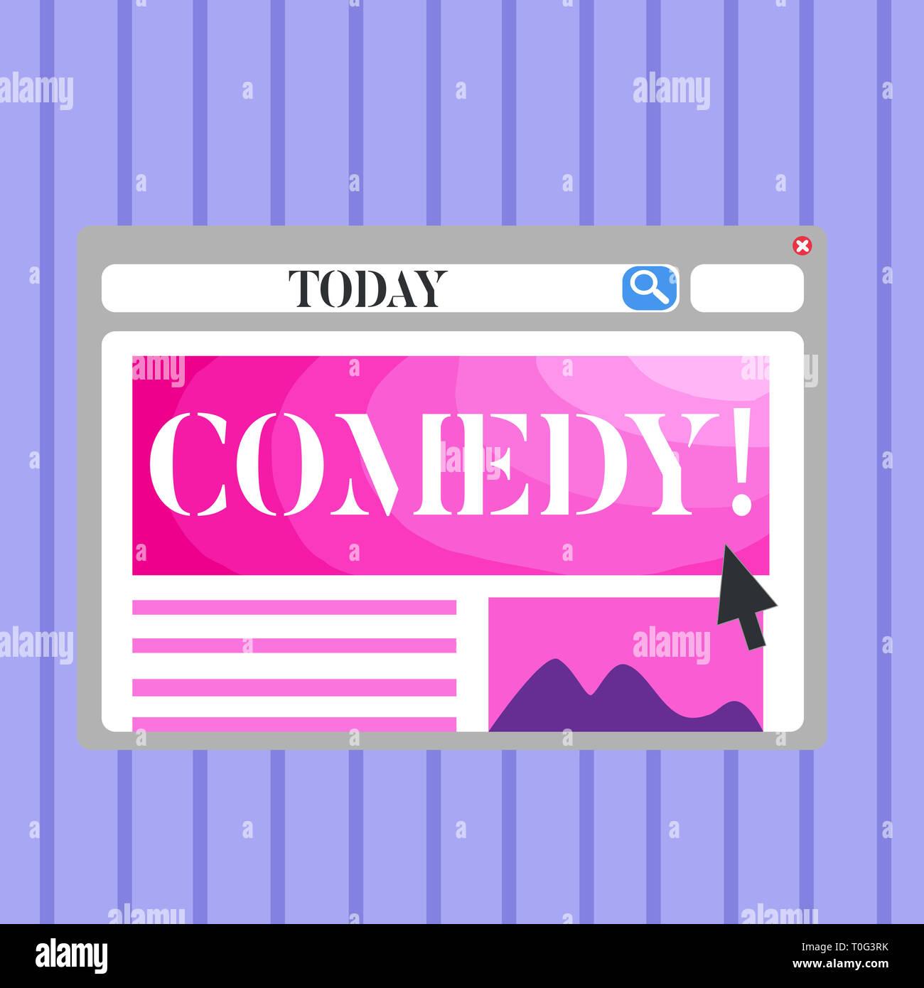 Word Writing Text Comedy Business Photo Showcasing Fun Humor