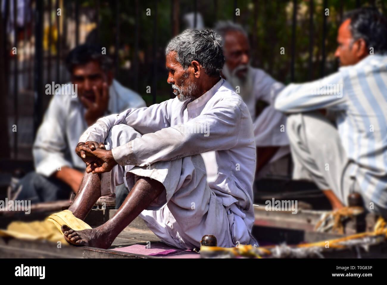 Contemplation & Reflection, Bundi, Rajasthan, India - Stock Image