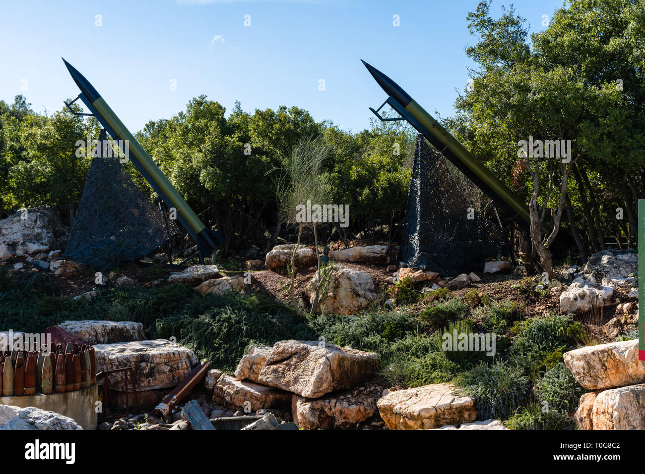 MLEETA, LEBANON - 4 Jan 2019: The Mleeta tourist Memorial (Hezbollah Museum), is a landmark build from the conflict military equipment after the leban - Stock Image