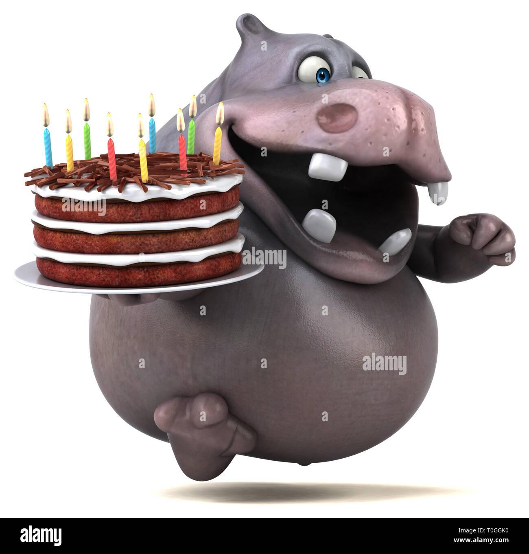 Fabulous Hippo Birthday Cake Stock Photos Hippo Birthday Cake Stock Personalised Birthday Cards Akebfashionlily Jamesorg