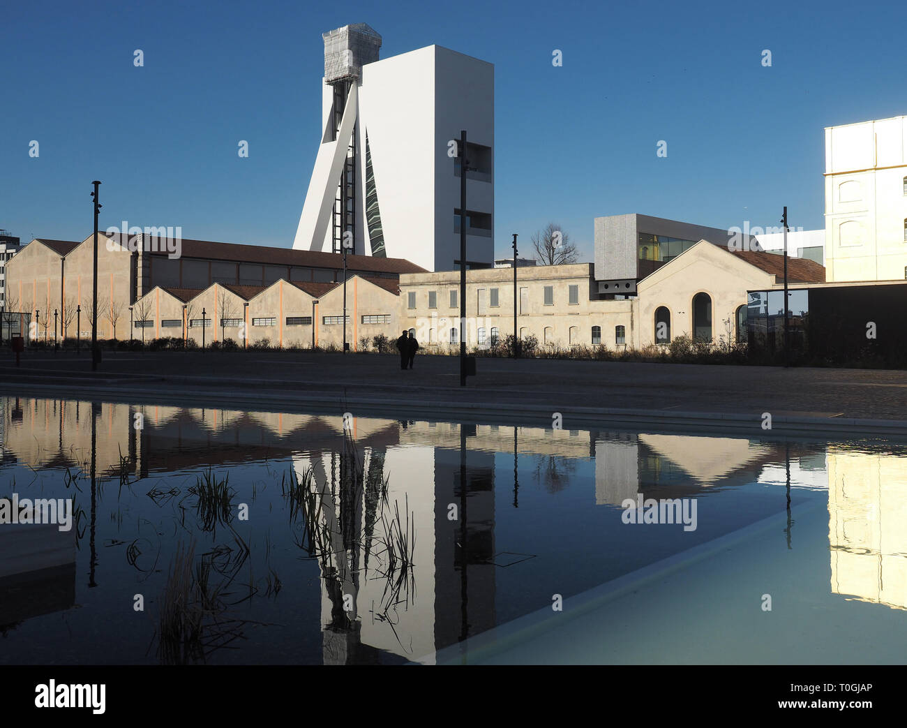 ITALY, LOMBARDY, MILAN, FONDAZIONE PRADA MUSEUM DESIGNED BY REM KOOLHAAS - Stock Image