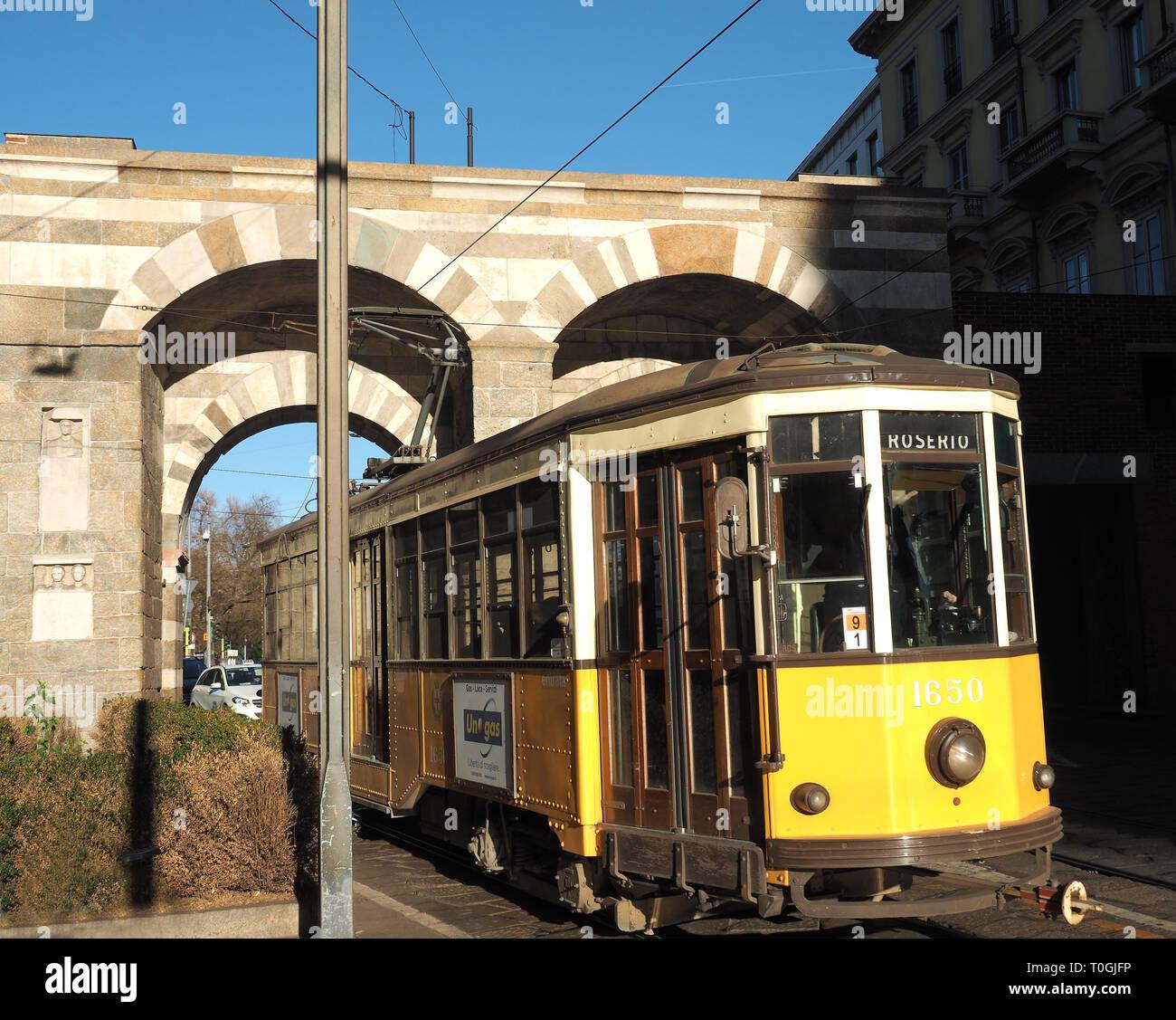 Europe, Italy, Lombardy, Milan, Porta Nuova - Stock Image