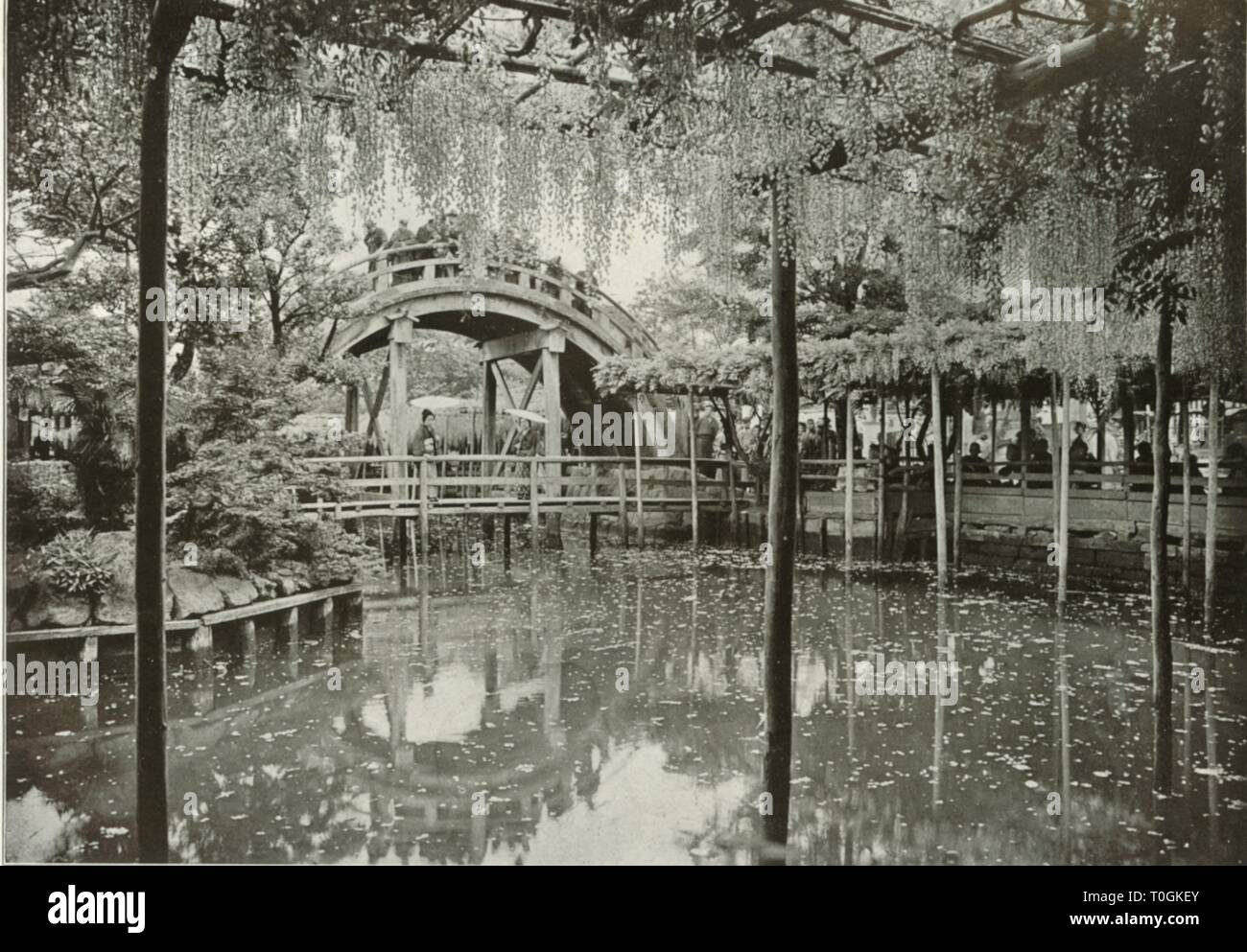 """'Kameido', 1910. From """"In Lotus-Land Japan"""", by Herbert G. Ponting, F.R.G.S. [Macmillan and Co., Limited, London, 1910] - Stock Image"""