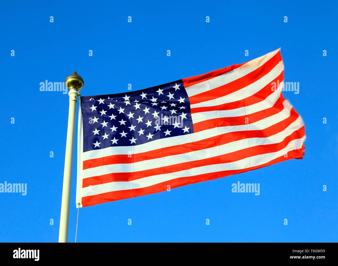 USA Flag, Stars and Stripes - Stock Image