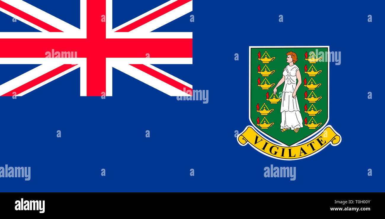 Flag of the British Virgin Islands. - Stock Image