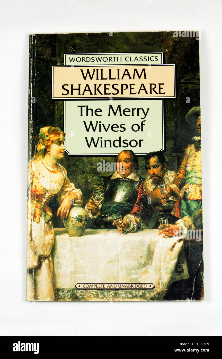 Wordsworth Classics The Merry Wives of Windsor by William Shakespeare - Stock Image