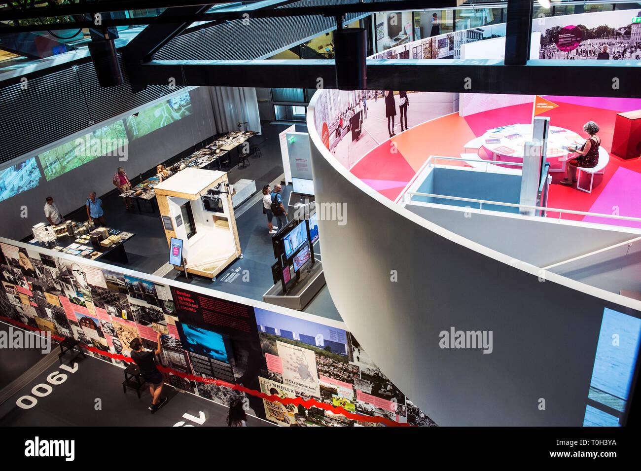 Denmark, Copenaghen, the Blox building, the DAC exhibition,danish architecture centre - Stock Image