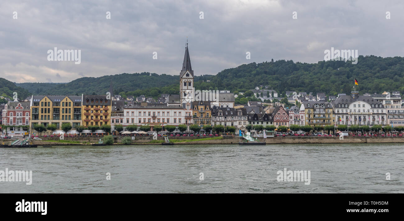 Moselle Valley, Germany - famous for its white wine production, the Moselle valley offers one of the most astonishing landscapes of Germany Stock Photo