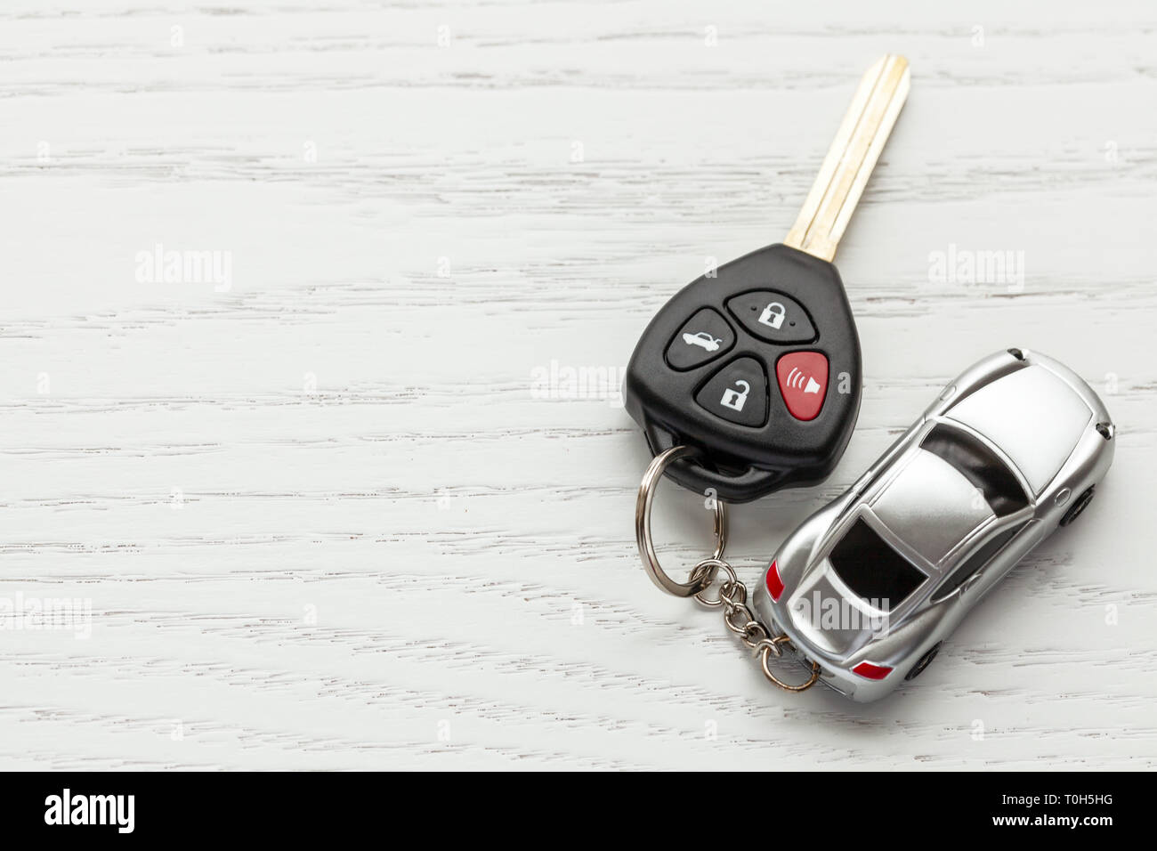 Car keys with remote control security and car key chain on