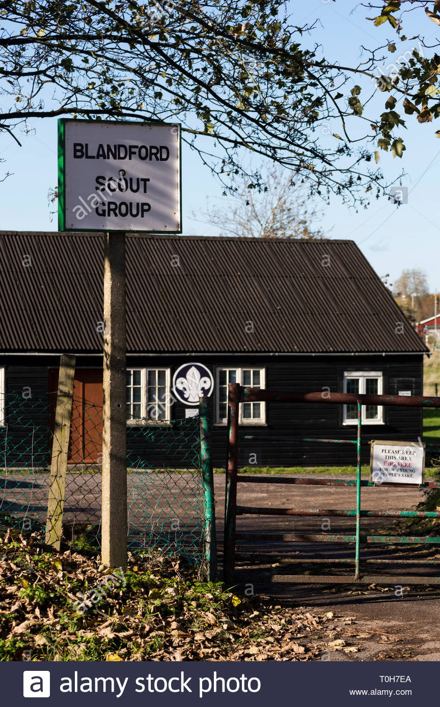 View of Blandford Scout Group hut in Blandford Forum, Dorset, England - Stock Image