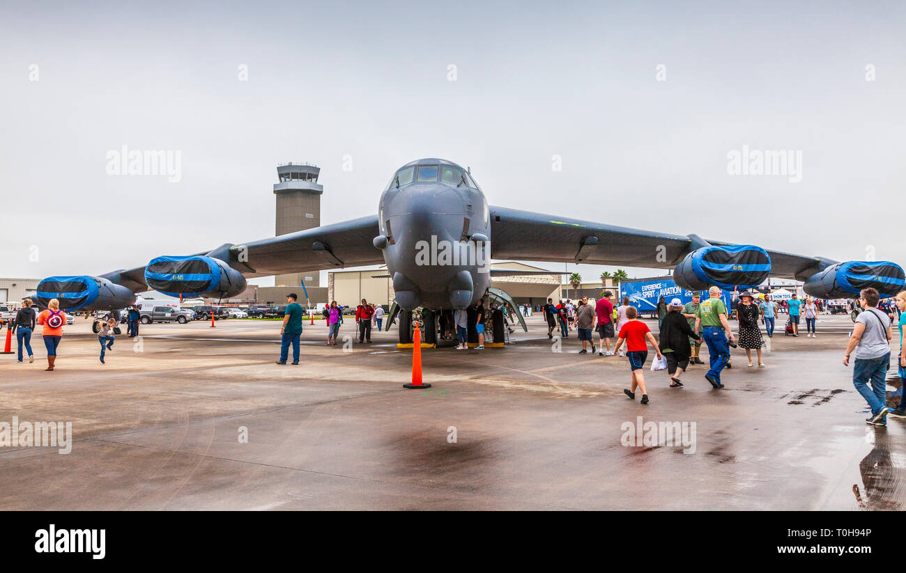 2018 Wings over Houston Air Show in Houston, Texas. Featured items included Blue Angels and other aviation related programs. - Stock Image
