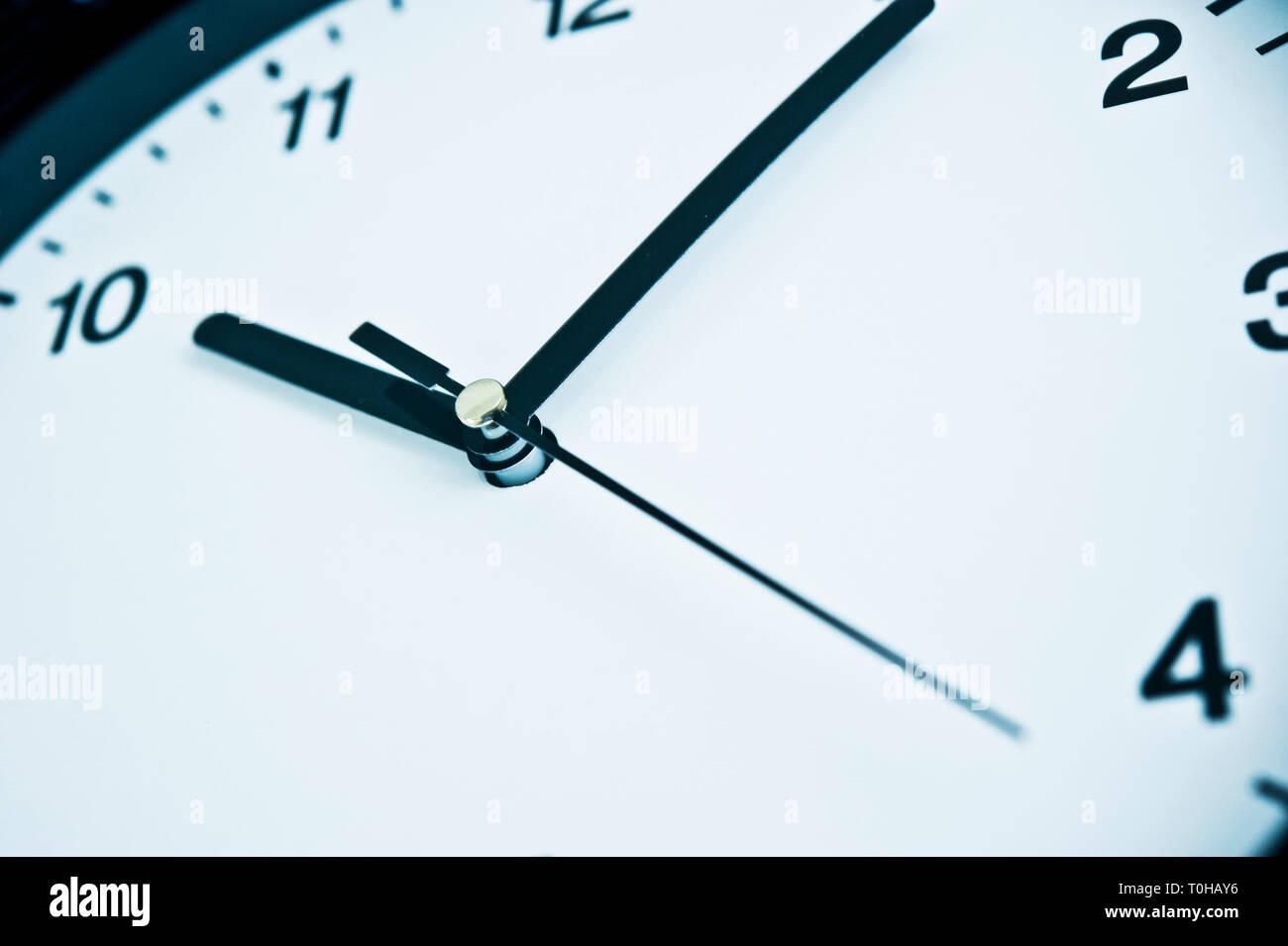 wall clock detail - Stock Image