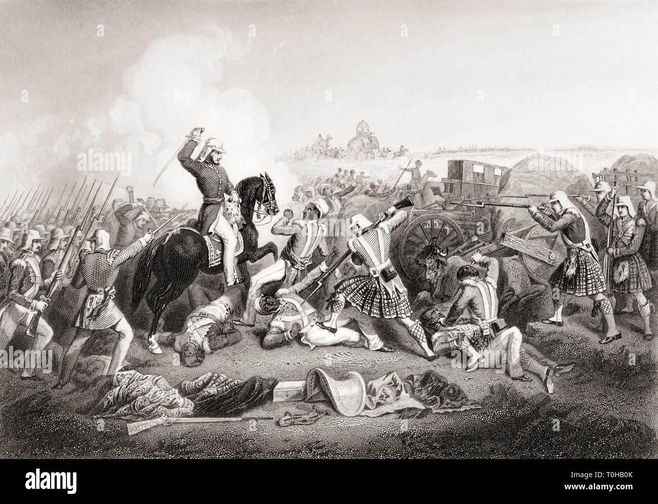 General Havelocks attack on Nana Sahib, Futtypore, Uttar Pradesh, India, Asia, 1857 Stock Photo