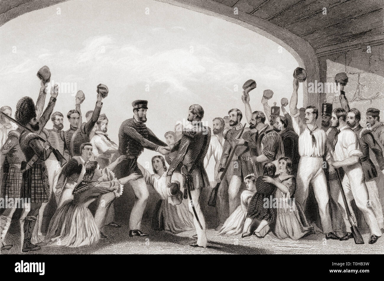 Relief of Lucknow by General Havelock, India, Asia, 1857 Stock Photo
