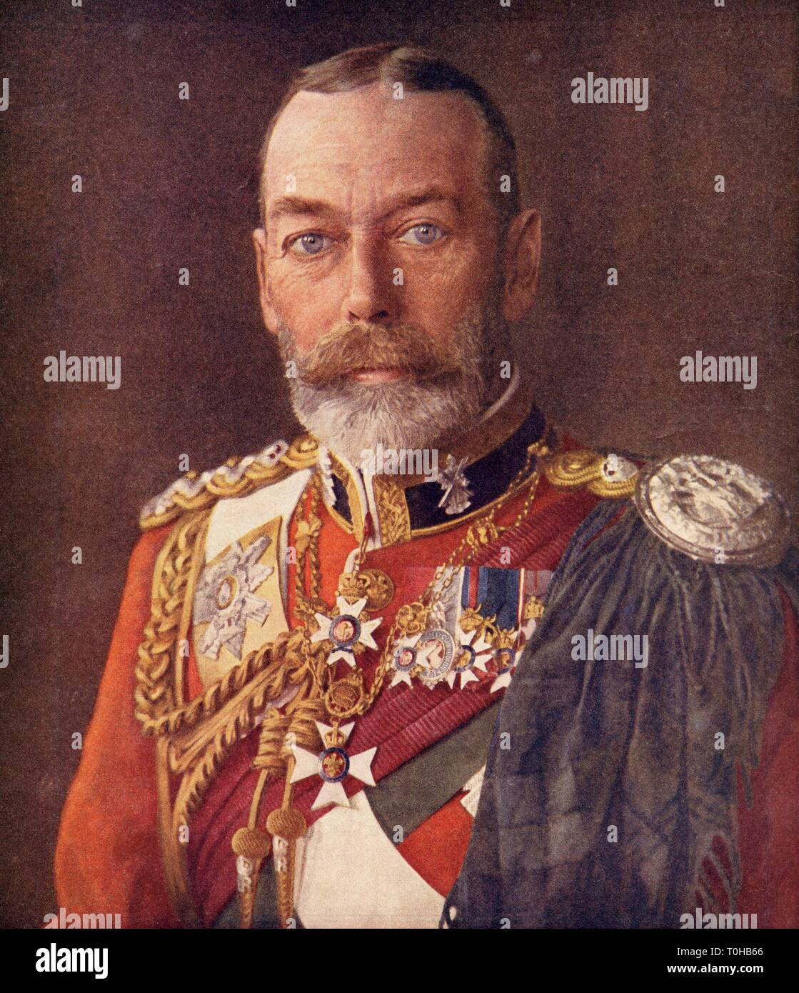 King of England and Emperor of India, George V - Stock Image