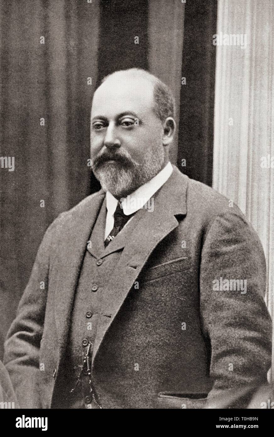 King of United Kingdom and British Dominions, Edward VII - Stock Image