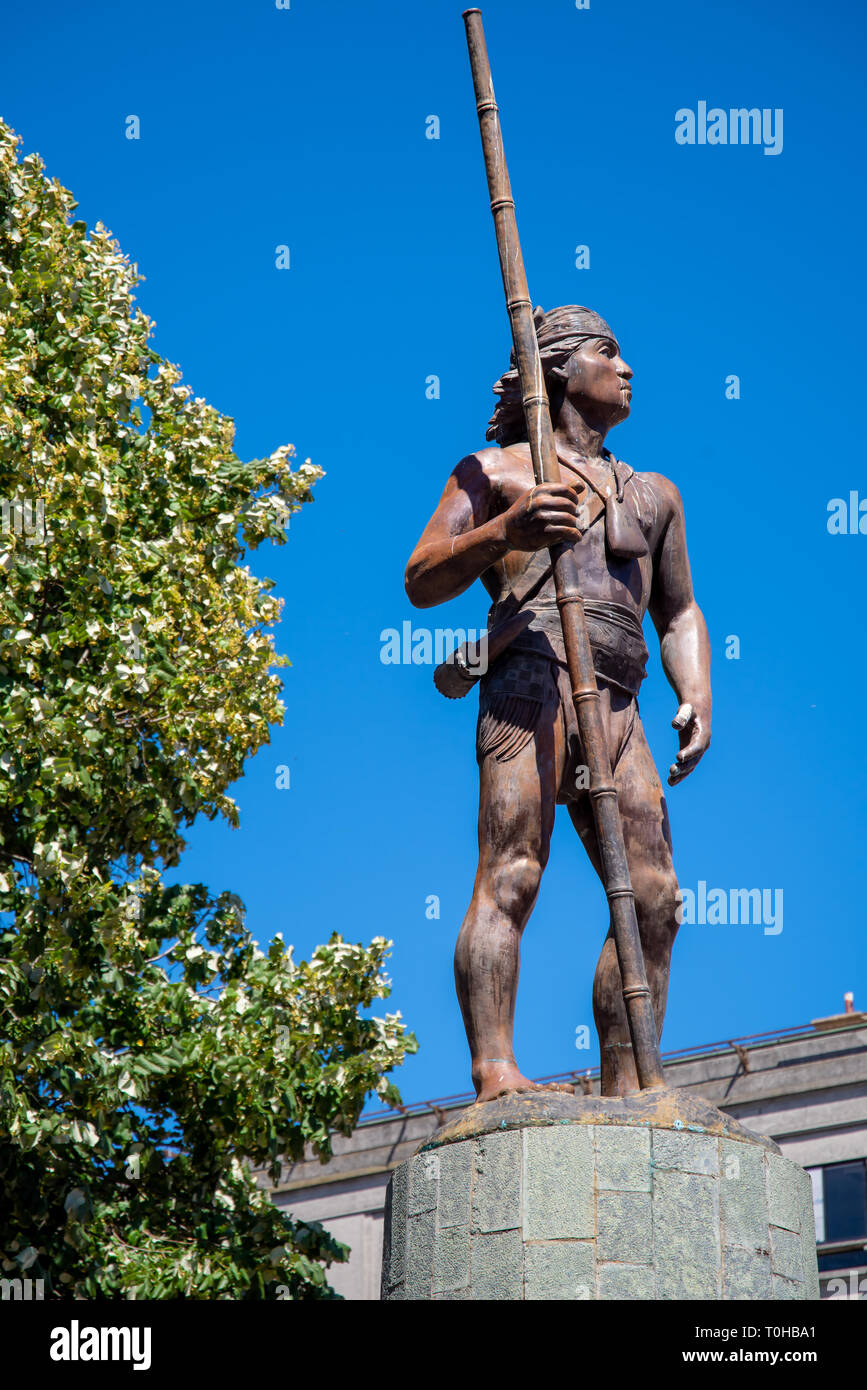 Mapuche Denkmal - Stock Image