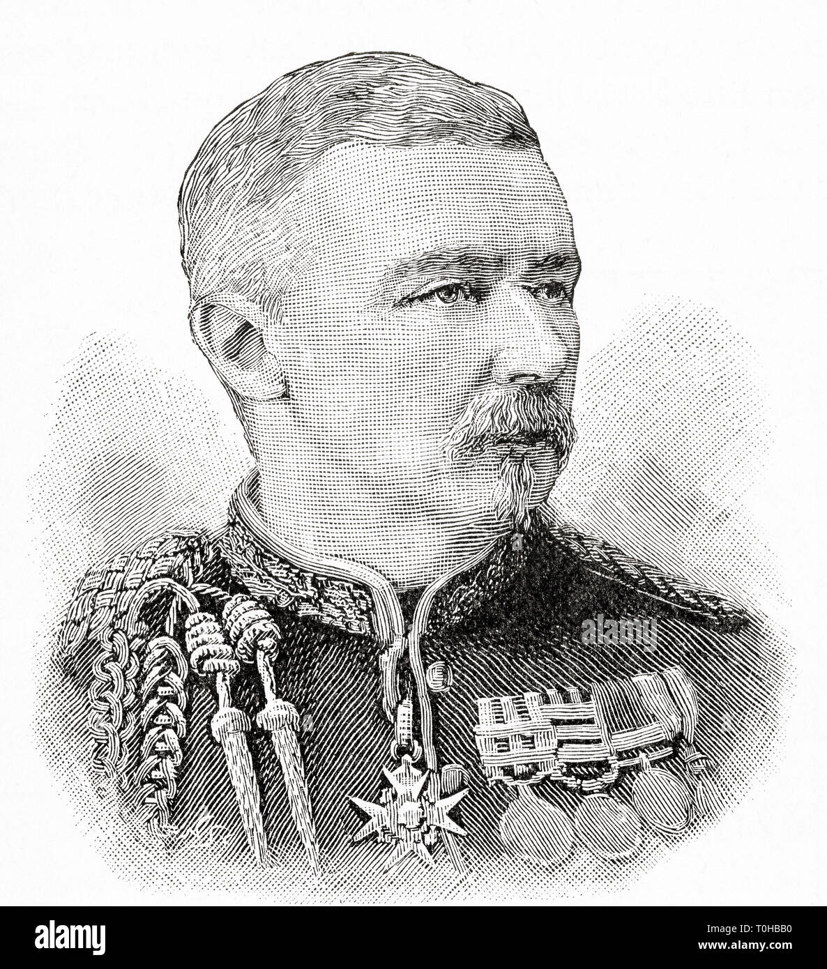 General Sir Robert Cunliffe Low, British officer - Stock Image