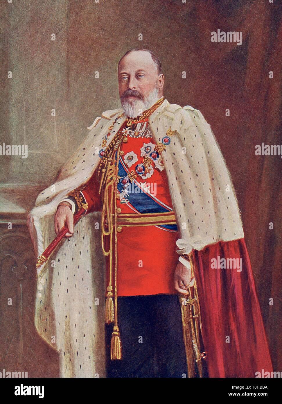 Old vintage photo of Edward VII - Stock Image