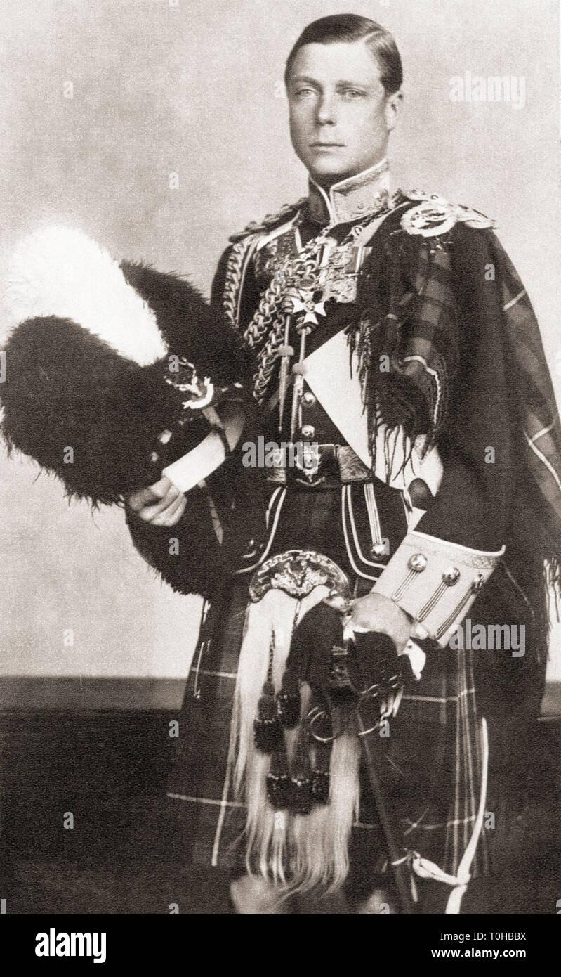 old vintage photo of Edward VIII Stock Photo