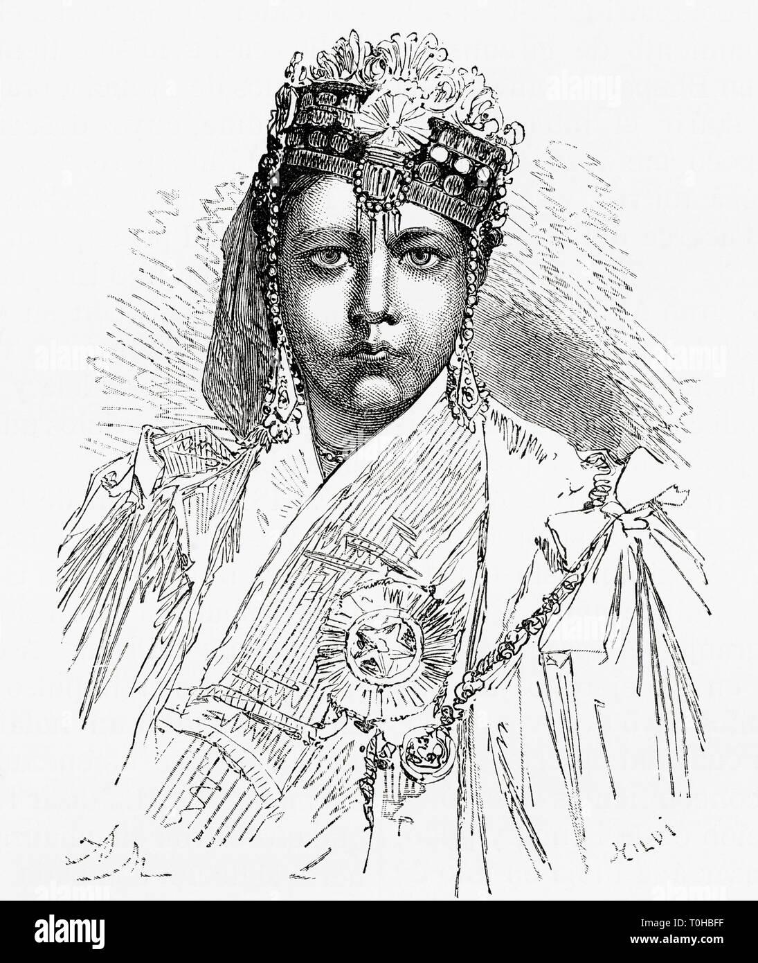 old vintage photo of Nawab Sultan Shah Jahan Begum - Stock Image