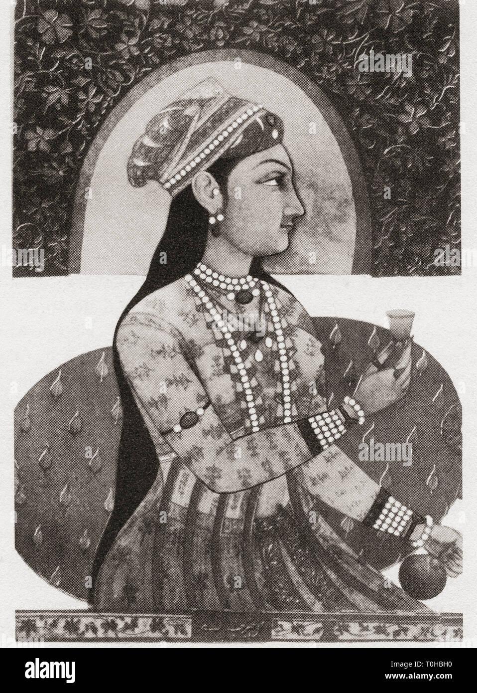 old vintage photo of Nur Jahan - Stock Image
