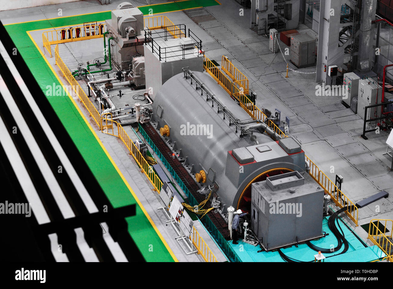 Power supply company generator, India, Asia - Stock Image