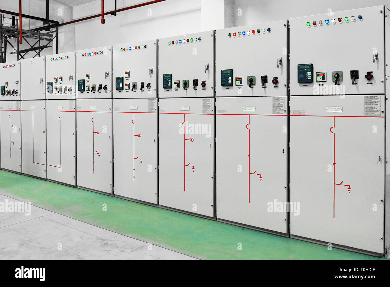 Switchboard Panels, electric substation, Mumbai, Maharashtra, India, Asia Stock Photo