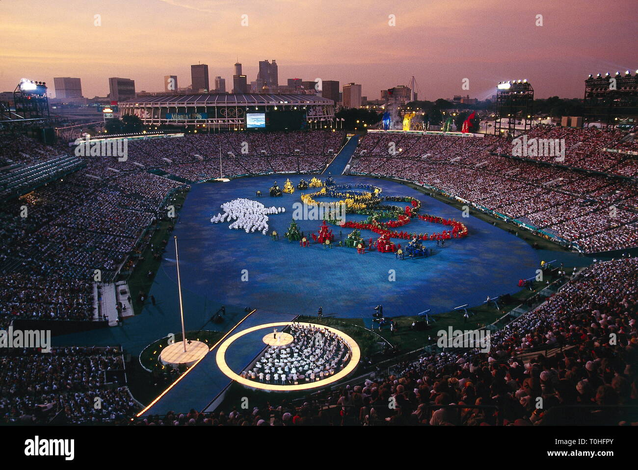 sports, XXVI Olympic Games, Atlanta, opening ceremony, 1996, Additional-Rights-Clearance-Info-Not-Available Stock Photo