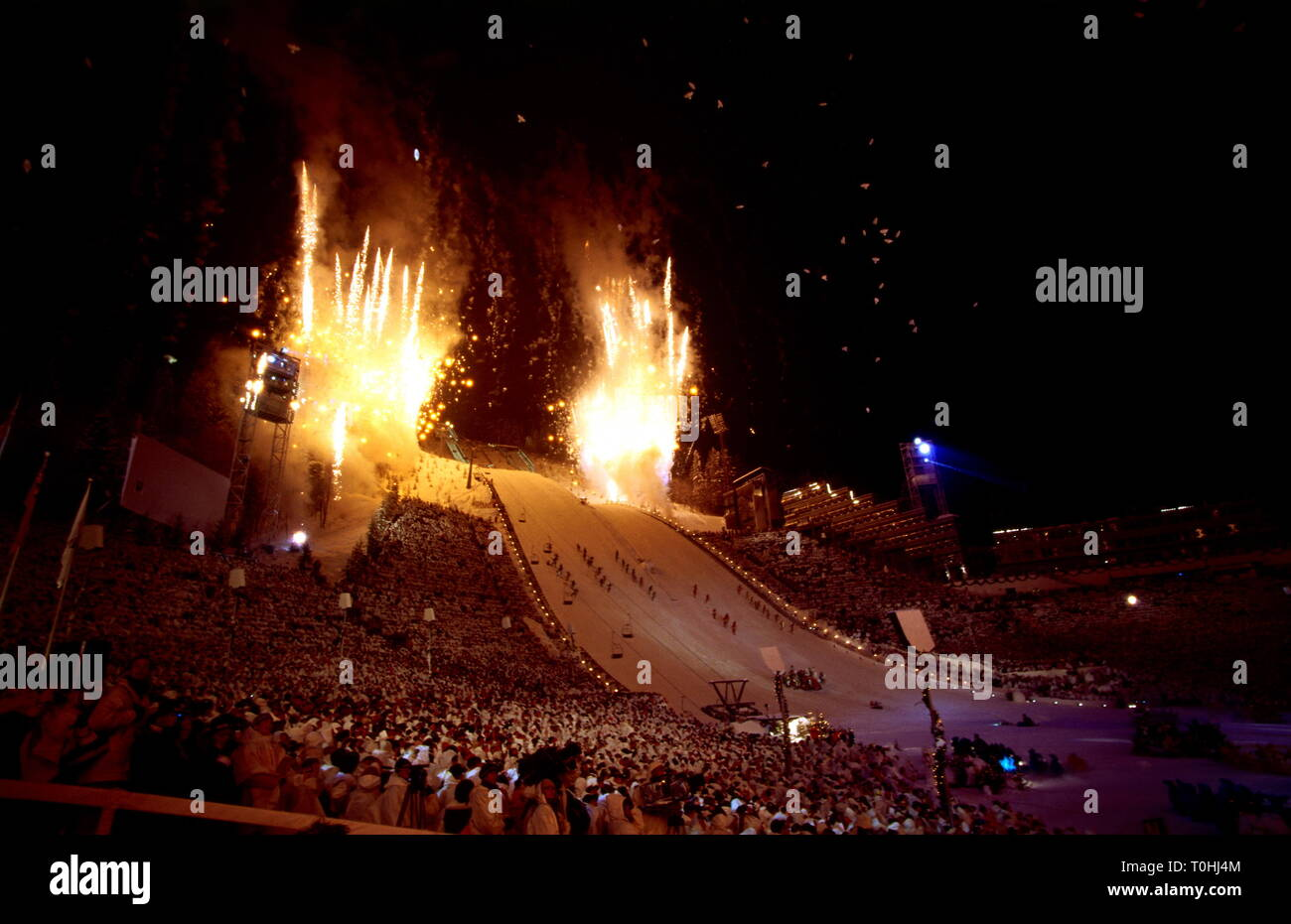 sports, XVII. Olympic winter games, Lillehammer, opening ceremony, 1994, Additional-Rights-Clearance-Info-Not-Available - Stock Image
