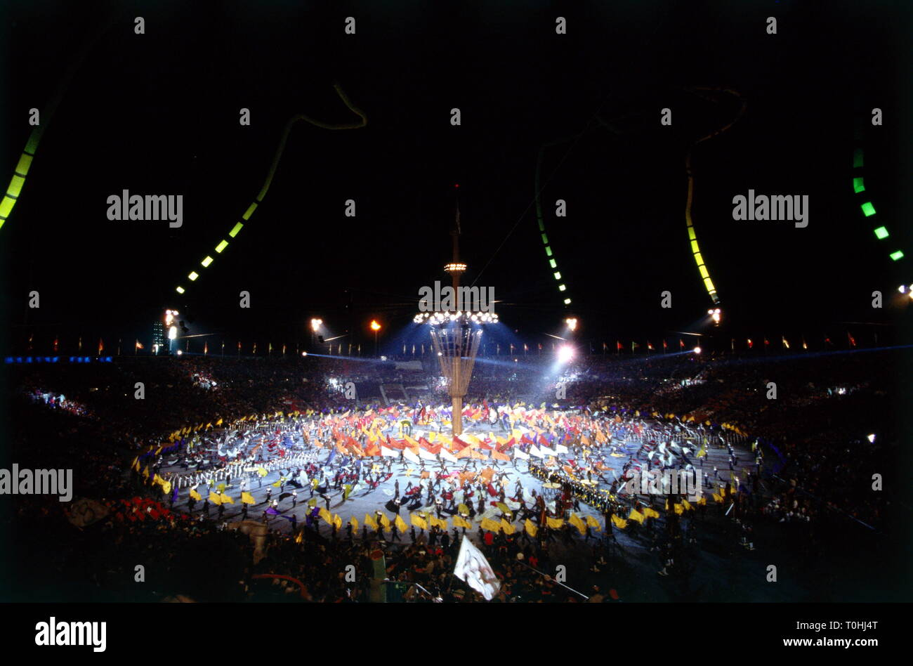 sports, XVI Winter Olympic Games, Albertville, 1992, opening ceremony, Additional-Rights-Clearance-Info-Not-Available - Stock Image