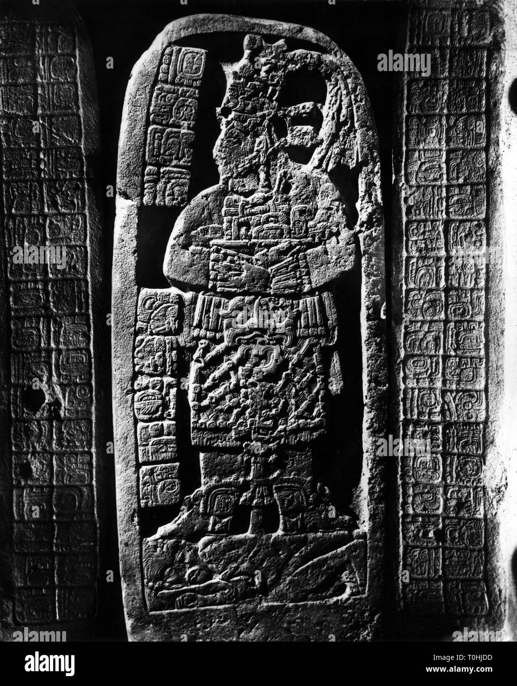 geography / travel, Guatemala, archeaology, Maya stele, Naranjo, 1960s, Additional-Rights-Clearance-Info-Not-Available - Stock Image