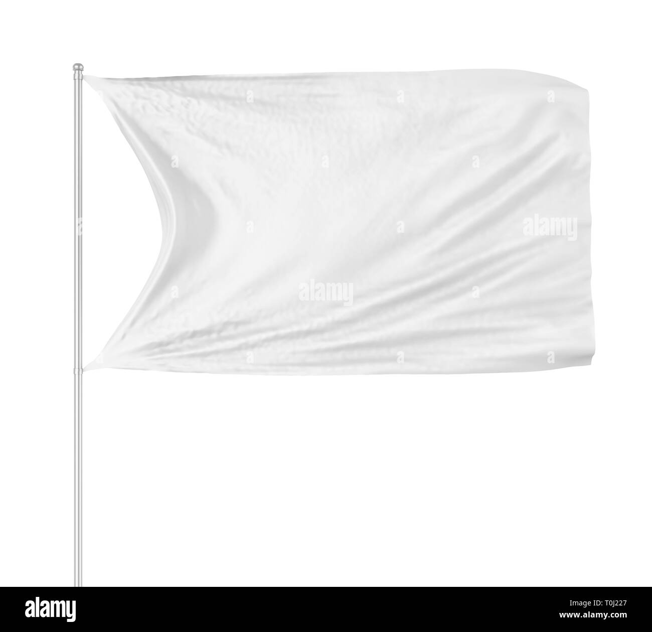 Blank Flag Isolated - Stock Image