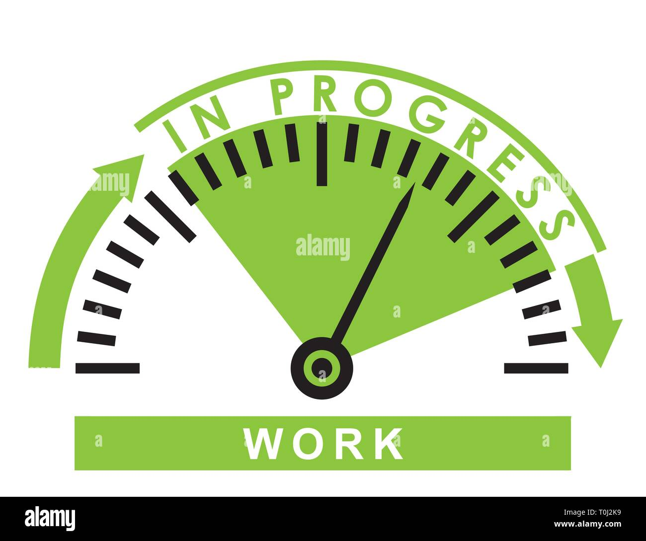 work in progress - monitoring  scale -  illustration template - Stock Vector