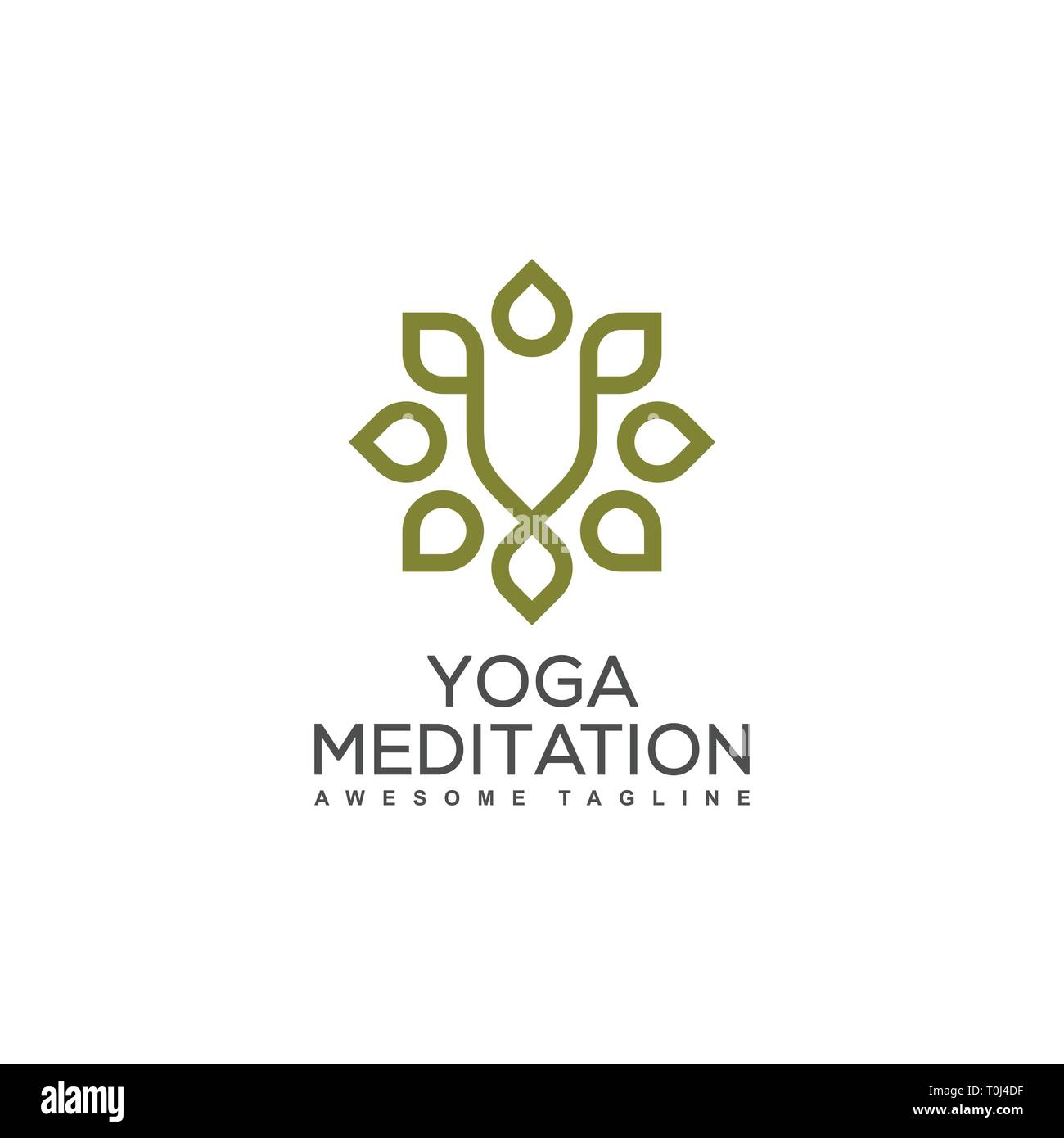 Yoga Ornament illustration vector Design template. Suitable for Creative Industry, Multimedia, entertainment, Educations, Shop, and any related busine - Stock Vector